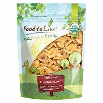 Food to Live® Certified Organic Banana Chips (Non-GMO, Unsulfured, Bulk) (1 Pound)