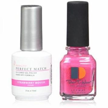 Le Chat Perfect Match Led-Uv Gel Polish Kits - Complete A-Z Collection, Strawberry Mousse