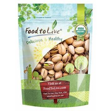 Food to Live Organic California Pistachios (In Shell, Roasted and Salted, Non-GMO, Bulk) (1 Pound)