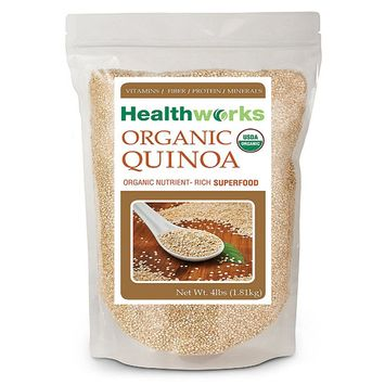 Healthworks Quinoa White Whole Grain Raw Organic, 4 lb (64 oz)