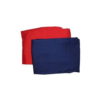 Baby Doll Bedding 2 Piece Cradle Sheet Set, Navy/Red [1]