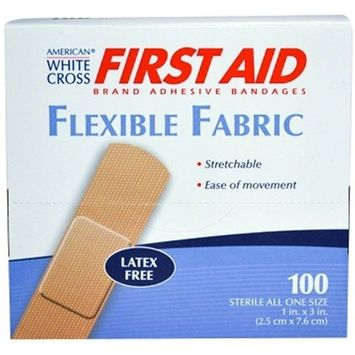 FIRST AID Brand Adhesive Bandages Flexible Fabric Strip 1
