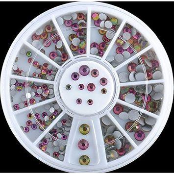 1-Sets Pleasure Popular 3D Acrylic Rhinestones Nails Art Wheel Decorations Full Design Salon Supplies Pattern Style #34