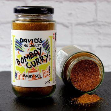 David's Bombay Curry Powder - 4.9 oz (140 g) SALT FREE …