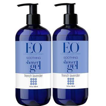 EO French Lavender Shower Gel With Lavender, Coconut Oil, Organic Aloe Vera, Calendula and Vitamin E, 16 fl. oz (Pack of 2)