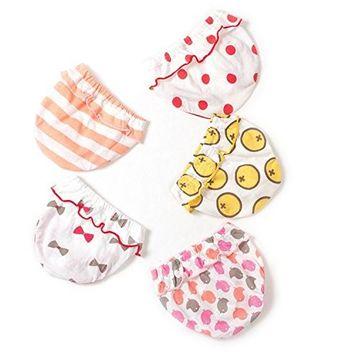 Jomin Baby Girl's Cotton Lace Underwear 5 Pack of Toddler Underwear