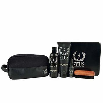 Zeus Deluxe Beard Care Dopp Kit - Men's Travel Beard Grooming Set with Toiletry Bag! (Scent: Vanilla Rum)