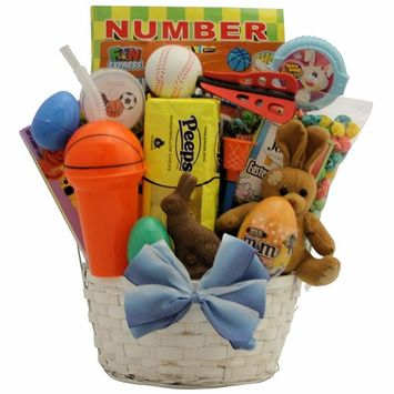Sports Egg-stravaganza: Easter Gift Basket for Boys Ages 6 to 9 Years
