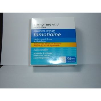 Famotidine 20mg 200 Tablets in 2-100 ct Bottles by Member's Mark