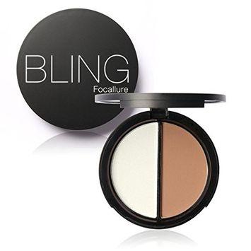 Eshion Highlighter Concealer Bronzer Contour Effects Palette with Mirror