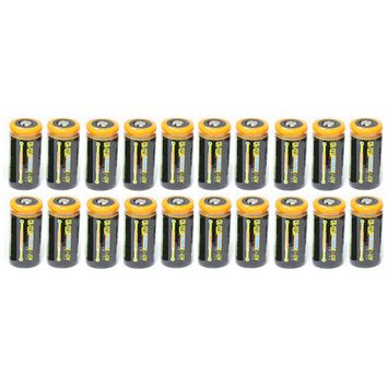 Ultimate Arms Gear 20 Pack CR123A 1200 mAh Lithium Rechargeable Batteries Battery For MAGLITE Flashlight Light Laser