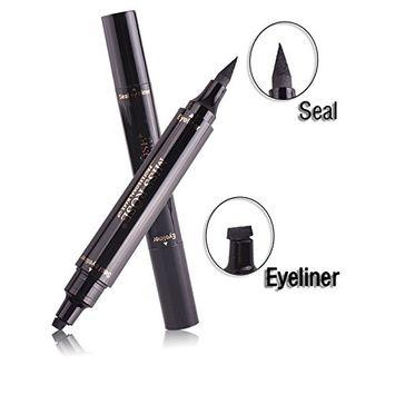 Double Ends Waterproof Black Liquid Eyeliner Seal and Stamp Eyeliner