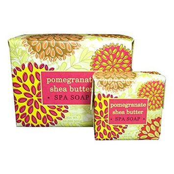 Bundle of 2 Greenwich Bay Trading Co. Soaps - 10.5oz Bath Soap Bar and Matching 1.9oz Hand Soap Bar (Exfoliating - Pomegranate Shea Butter)