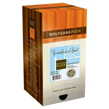 Wolfgang Puck Coffee, Breakfast in Bed Pods, 12 Gram Pods, 16 count [Breakfast in Bed]
