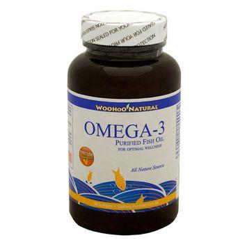 WooHoo Natural Purified Fish Oil, Omega-3 1000mg 90 Softgels