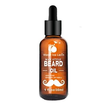 Fragrance Free Beard Oil, 100% Pure Natural for Groomed Beards, Mustaches, and Moisturized Skin 1 oz by Lotus.flower