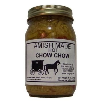 Amish Buggy Chow Chow, Hot, 16 Ounce (Pack of 12)