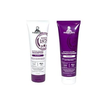 The Grandpa Soap Co. Shampoo and Conditoner Set, 8oz, Witch Hazel Shampoo + Witch Hazel Conditioner   Clarify - Removes Buildup and Oil Residue,...