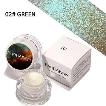 Doinshop Glitter Shimmer Eyeshadow Powder Palette High Light Glue primer Cosmetic