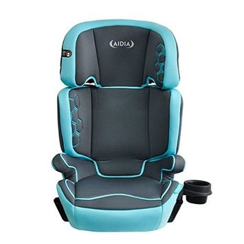 Aidia Explorer 2-in-1 Safety Booster Car Seat, Grey/Blue