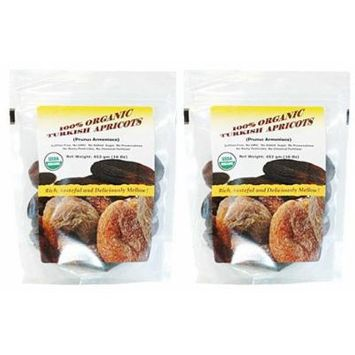 Indus Organics Jumbo Turkish Dried Apricots 2 Lb, Sulfite Free, No Added Sugar, Premium Grade, Freshly Packed