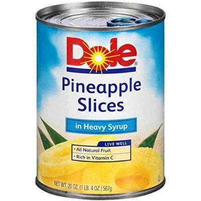 Dole Pineapple Sliced In Syrup, 20 Ounce -- 12 per case.