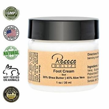 Foot Cream with Shea Butter and Aloe Vera for Dry Cracked Heels - 1oz