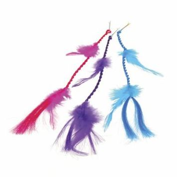 NEON FEATHER HAIR CLIPS, SOLD BY 6 DOZENS