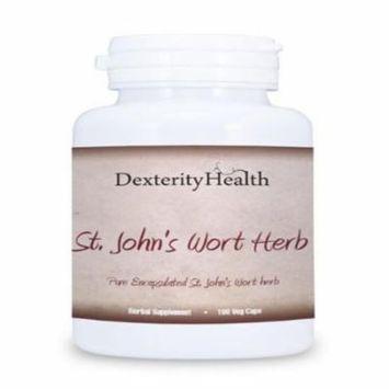 St. John's Wort Herb, Pure Premium Encapsulated St. John's Wort Herb, 100ct