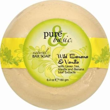 Pure And Basic Bar Soap - Wild Banana Vanilla - Pack of 6 - 6.4 Oz