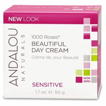 Andalou Naturals, 1000 Roses Beautiful Day Cream, Sensitive, 1.7 oz(pack of 2)