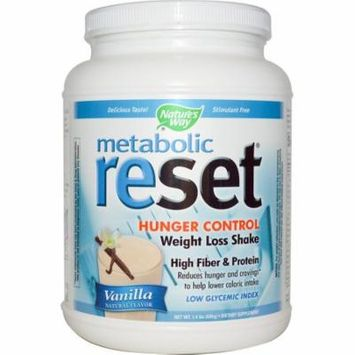 Nature's Way, Metabolic Reset Hunger Control Weight Loss Shake, Powder, Vanilla, 1.4 lbs (pack of 3)