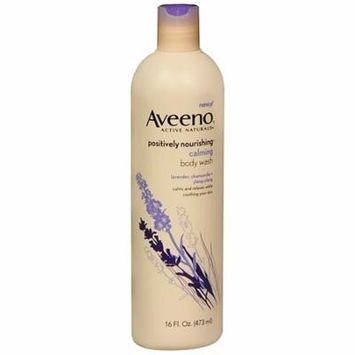 Aveeno Active Naturals Body Wash, Calming Lavender, Chamomile + Ylang Ylang 16 fl oz (pack of 12)