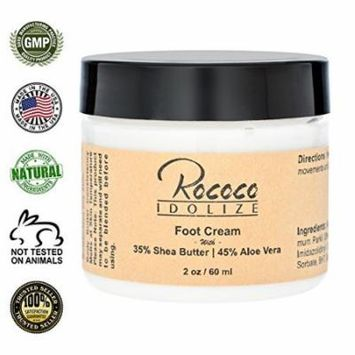 Foot Cream with Shea Butter and Aloe Vera for Dry Cracked Heels - 2oz