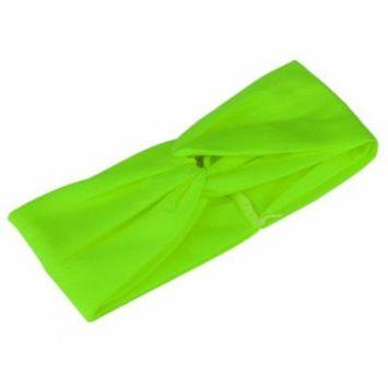 Green New 3 Colors Women Stretch Solid Twist Turban Headband Sport Yoga Head Wrap Bandana Headwear Hair Accessories
