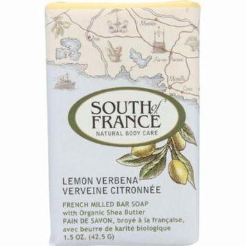 South Of France Bar Soap - Lemon Verbena - Travel - 1.5 Oz - Pack of 12