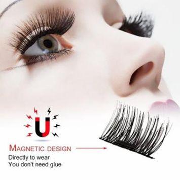 3D Permanent Magnetic Eyelash Glue Free Material Eyelashes 4 Pieces/ Box Eyelash Extension Kit Recycle DIY False Eyelashes