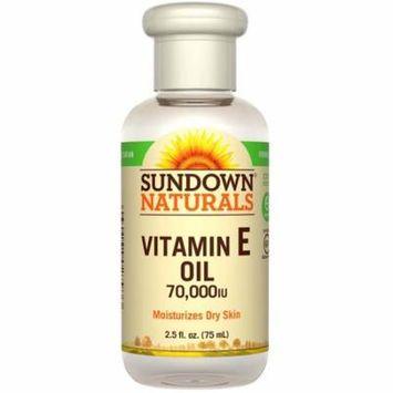 Sundown Naturals, Vitamin E Oil, 70,000 IU, 2.5 fl oz (pack of 4)