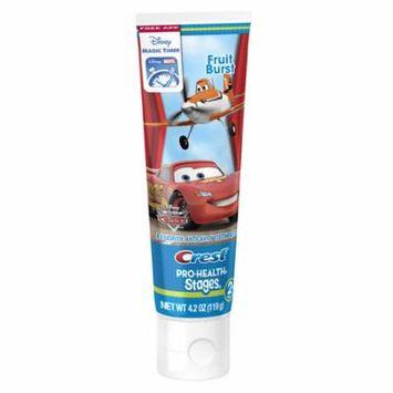 Crest Stages Pro-Health Kids Toothpaste Disney Pixar Cars and Planes with MagicTimer App Fruit Burst 4.2 oz.(pack of 12)