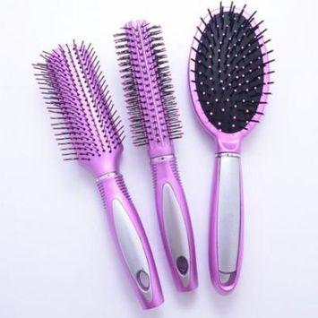 Scheam 3 Pcs Gasbag Hair Brush-Detangling Scalp Massage Hair Comb--Pink