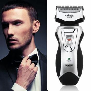 Men's Rechargeable Electric Shaver Double Mesh Blades Razor Groomer US Plug