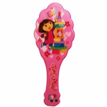 Dora the Explorer Time To Play Pink Colored Plastic Hairbrush