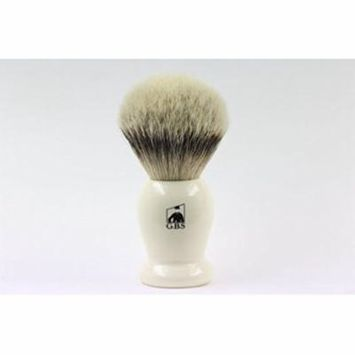 GBS 100% Silvertip Badger Hair Shaving Brush Ivory Handle 21 Mm Knot Comes with Free Stand