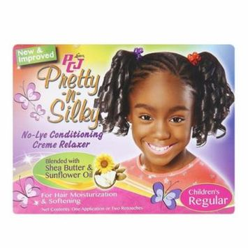 Lusters PCJ Pretty-N-Silky No-Lye Childrens Conditioning Creme Hair Relaxer Kit, Regular, 1 Ea