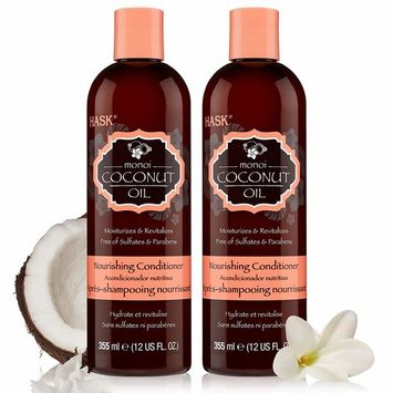 HASK MONOI COCONUT OIL Nourishing Conditioner for all hair types, gluten free, sulfate free, paraben free - Set of 2 Conditioners [MONOI COCONUT]
