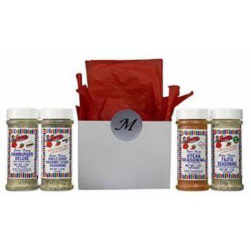 Bolner's Fiesta Extra Fancy Fajita Seasoning 4 Flavor Gift Box Set, (1) each: Fajita, Southwest, Mesquite, and Chicken, 5.5-7 Ounces