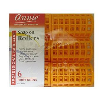(PACK OF 6) ANNIE SNAP ON ROLLERS #6 JUMBO #1005 : Beauty