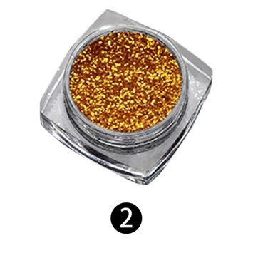 Echou Nail art Decoration Nail Salon, Glitter Nail Art Effect Powder Dust Holographic Shimmer Nail Starry, for DIY Nail Crafts, Parties Nail Decoration (A)