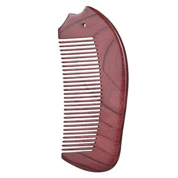 Pocket Wooden Comb Natural Violet Wood Hair Combs Portable Anti Static Wide Teeth Wood Massage Hair Styling Brush Hairbrush