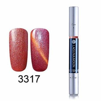 Gel Nail Polish Pen, Starry Cat Eye Effect Soak Off Gel Nail Polish Pen Glitter Color 3317